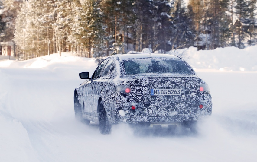 SPYSHOTS: G80 BMW M3 spotted testing in the cold Image #774003