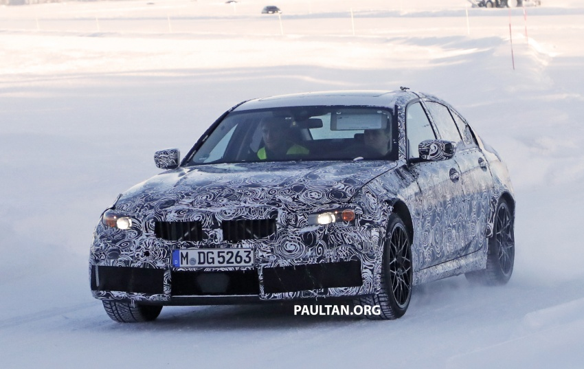 SPYSHOTS: G80 BMW M3 spotted testing in the cold Image #773989