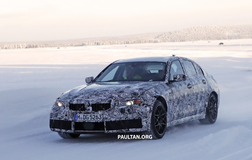 SPYSHOTS: G80 BMW M3 spotted testing in the cold Image #773990