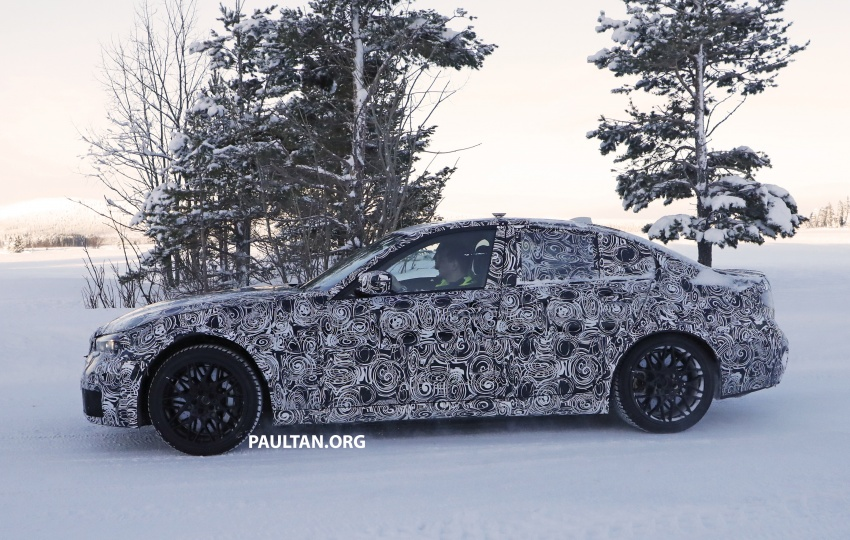 SPYSHOTS: G80 BMW M3 spotted testing in the cold Image #773993