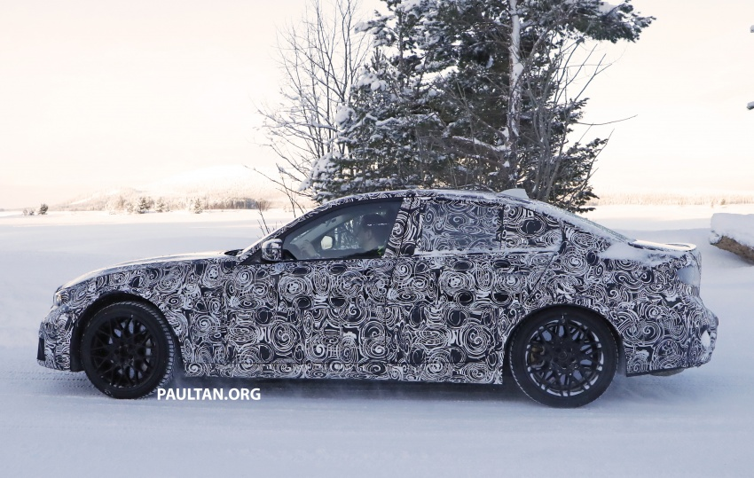 SPYSHOTS: G80 BMW M3 spotted testing in the cold Image #773994
