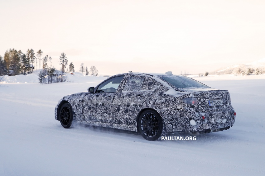 SPYSHOTS: G80 BMW M3 spotted testing in the cold Image #773998