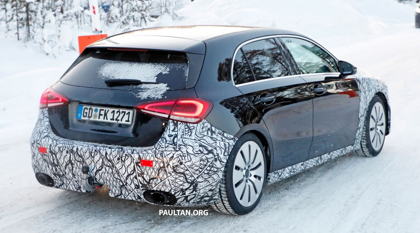 SPIED: 2018 Mercedes-AMG A35 shows more skin Image #782145