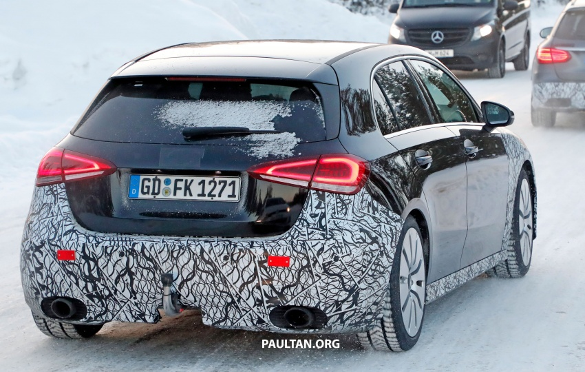 SPIED: 2018 Mercedes-AMG A35 shows more skin Image #782147