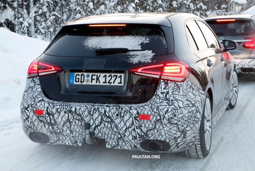 SPIED: 2018 Mercedes-AMG A35 shows more skin Image #782139