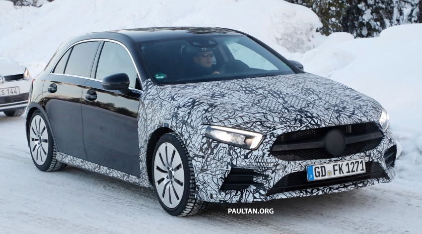 SPIED: 2018 Mercedes-AMG A35 shows more skin Image #782141
