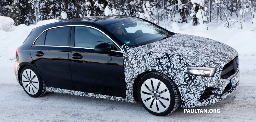 SPIED: 2018 Mercedes-AMG A35 shows more skin Image #782142
