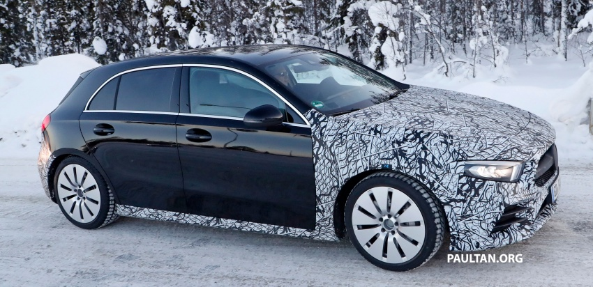 SPIED: 2018 Mercedes-AMG A35 shows more skin Image #782143