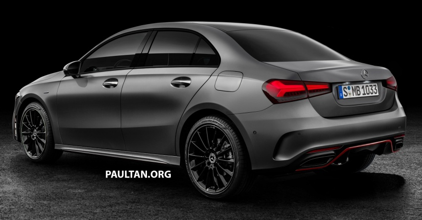 2018 Mercedes-Benz A-Class Sedan gets rendered Image #774859