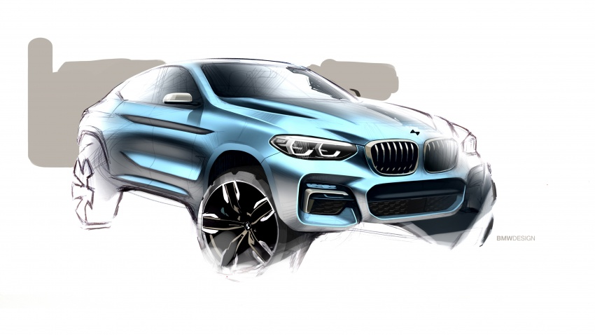 G02 BMW X4 unveiled with M40i and M40d variants Image #779188