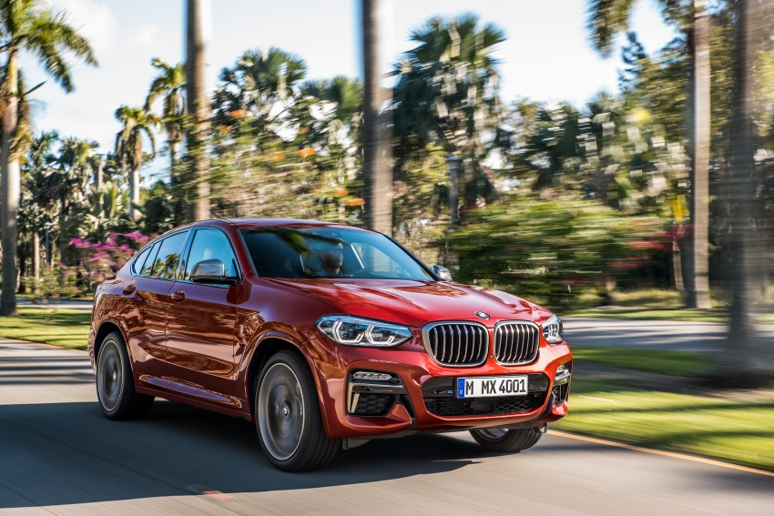 G02 BMW X4 unveiled with M40i and M40d variants Image #779191