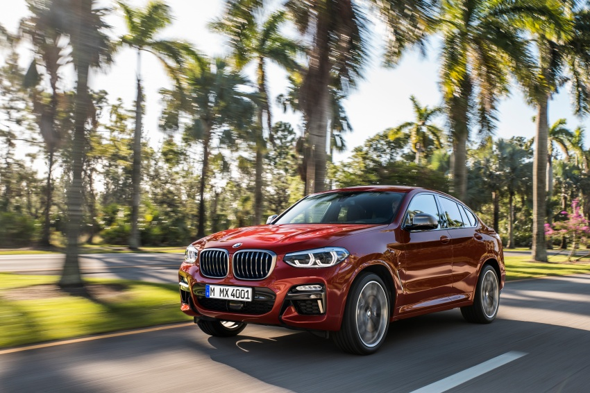 G02 BMW X4 unveiled with M40i and M40d variants Image #779192