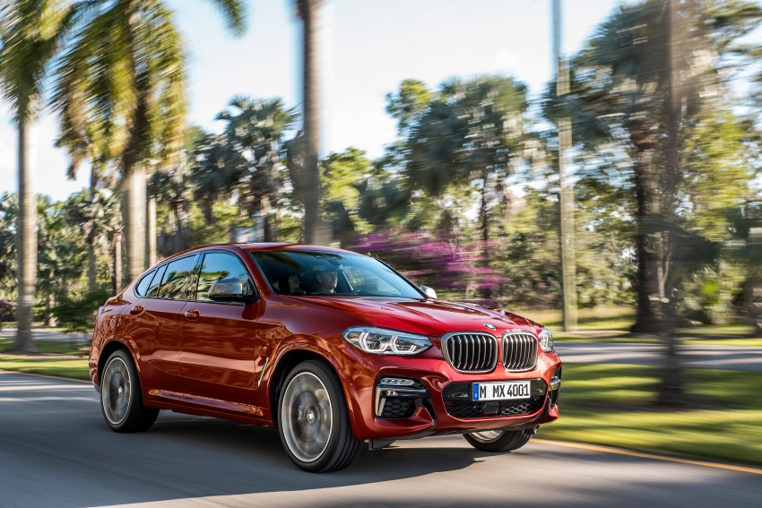 G02 BMW X4 unveiled with M40i and M40d variants Image #779193