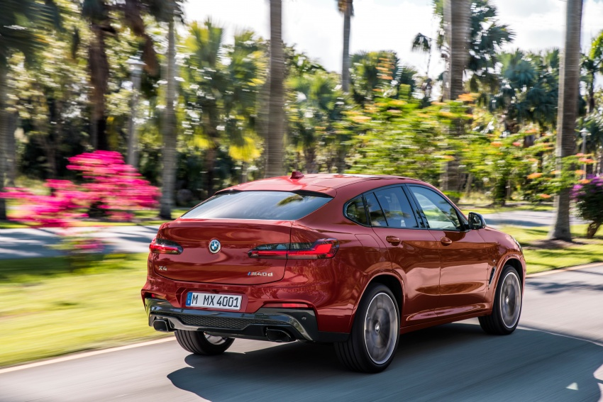 G02 BMW X4 unveiled with M40i and M40d variants Image #779194