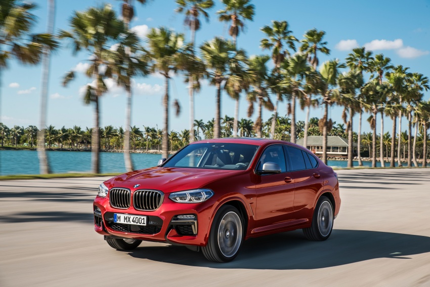 G02 BMW X4 unveiled with M40i and M40d variants Image #779196