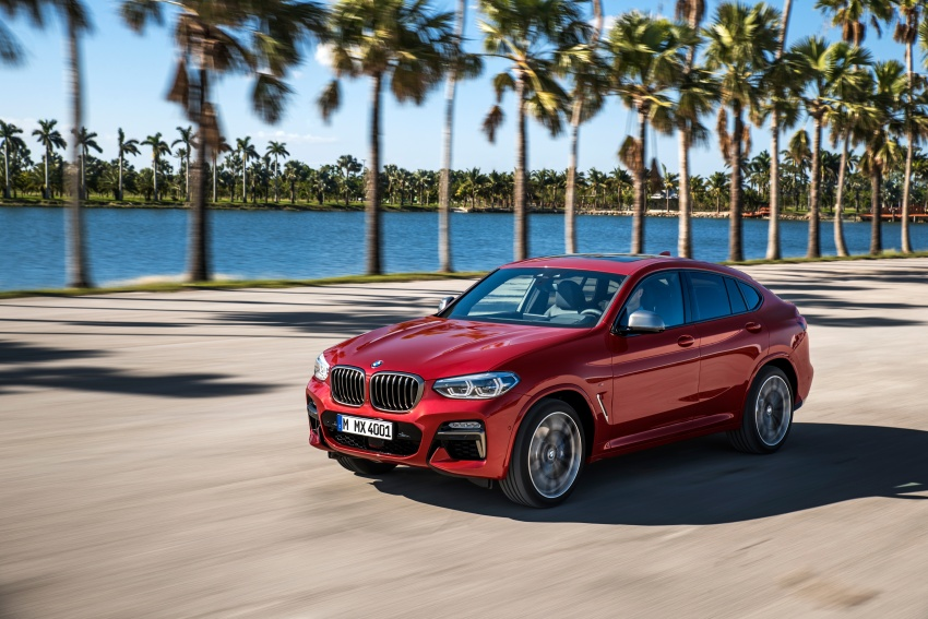 G02 BMW X4 unveiled with M40i and M40d variants Image #779197
