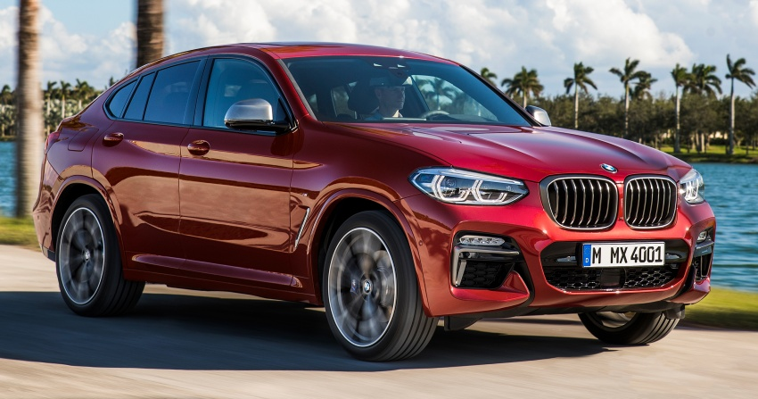 G02 BMW X4 unveiled with M40i and M40d variants Image #779198