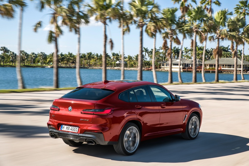 G02 BMW X4 unveiled with M40i and M40d variants Image #779200