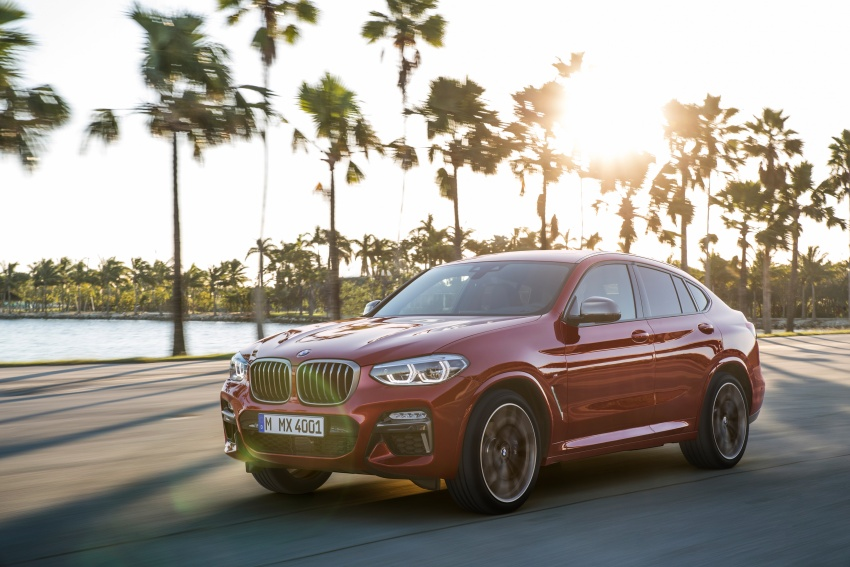 G02 BMW X4 unveiled with M40i and M40d variants Image #779202