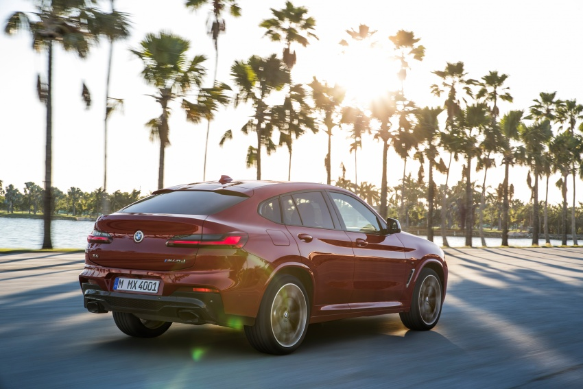 G02 BMW X4 unveiled with M40i and M40d variants Image #779204