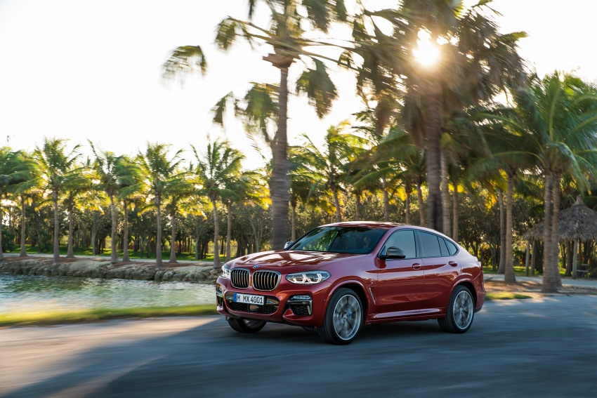 G02 BMW X4 unveiled with M40i and M40d variants Image #779205