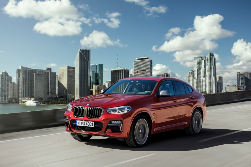 G02 BMW X4 unveiled with M40i and M40d variants Image #779209