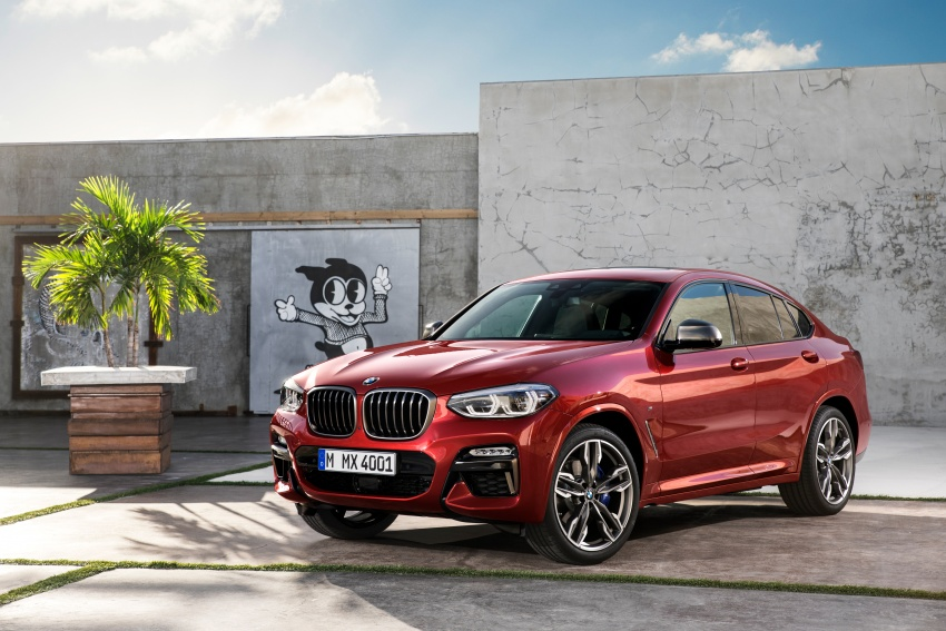 G02 BMW X4 unveiled with M40i and M40d variants Image #779224