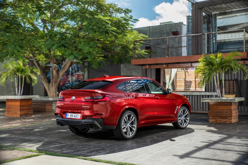 G02 BMW X4 unveiled with M40i and M40d variants Image #779233