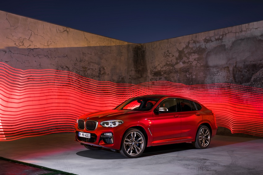 G02 BMW X4 unveiled with M40i and M40d variants Image #779238