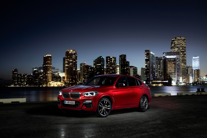 G02 BMW X4 unveiled with M40i and M40d variants Image #779243