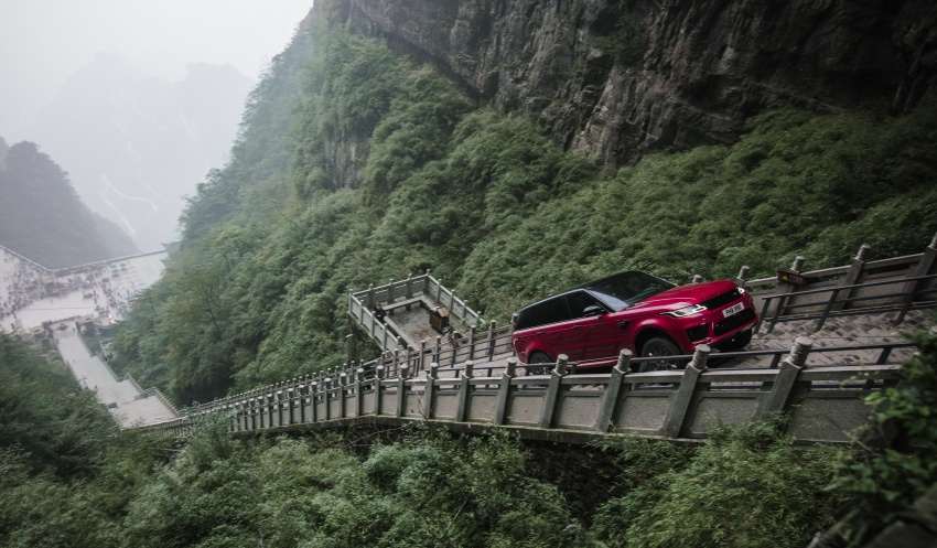 Range Rover Sport Back >> Range Rover Sport PHEV climbs China's Dragon Road and Heaven's Gate – 99 turns, 999 steps, 45 ...