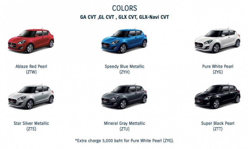 2018 Suzuki Swift launched in Thailand – 1.2L CVT, 23 km/l Phase 2 eco car, priced from RM62k Image #777468