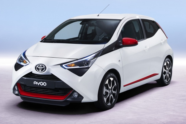 2018 toyota aygo facelift debuts with even bolder face. Black Bedroom Furniture Sets. Home Design Ideas