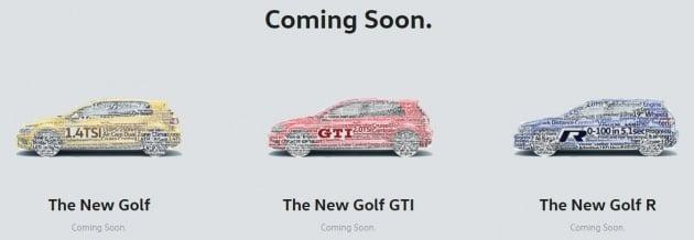 Volkswagen Golf Mk7 5 range teased on Malaysian site