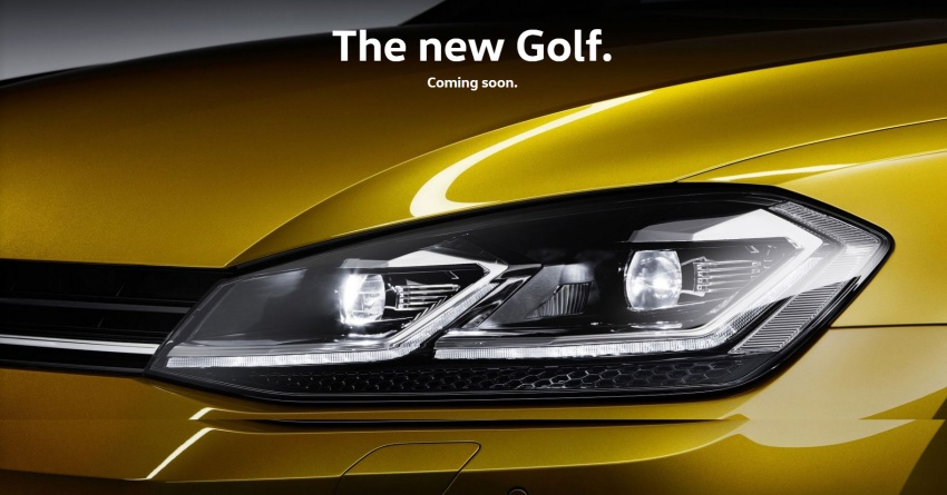 Volkswagen Golf Mk7.5 range teased on Malaysian site Image #782280