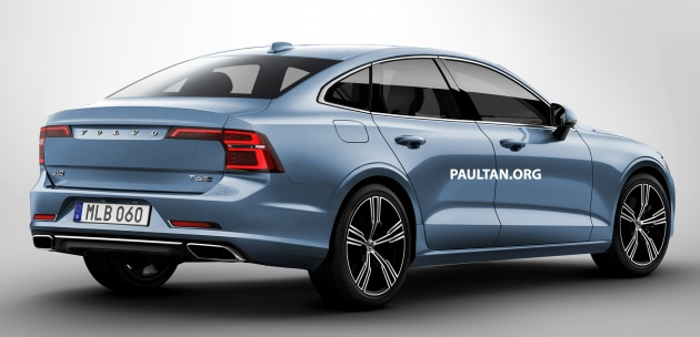 New Volvo S60 sedan rendered based on V60 wagon