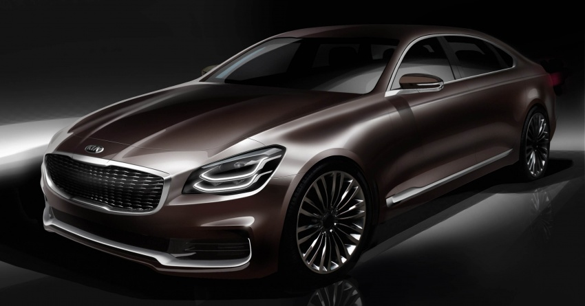 All New 2019 Kia K900 Preview: 2018 Kia K900 Previewed In Sketch Form Before Debut
