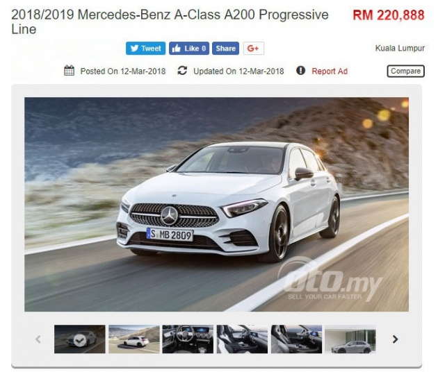 2018 Mercedes Benz A Class Appears On Oto My A200 Progressive Line
