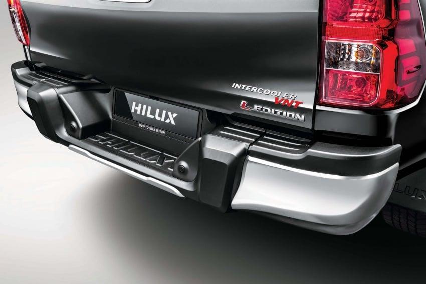 Toyota Hilux <em>facelift</em> 2018 kini di M'sia – diperkenalkan dalam versi L-Edition, 2.4L dan 2.8L, bermula RM119k Image #790513