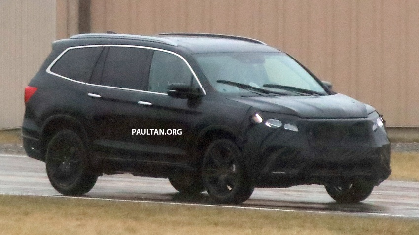 SPIED: 2019 Honda Pilot facelift spotted – eight-seat SUV to get new Insight's dual-motor hybrid system? Image #785945