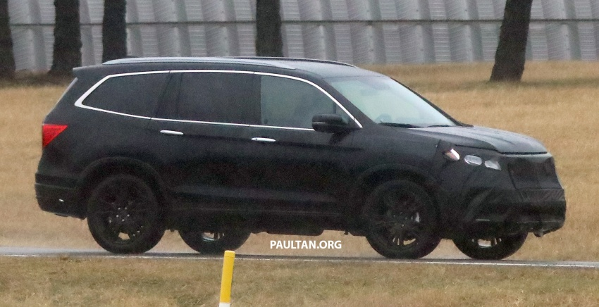 SPIED: 2019 Honda Pilot facelift spotted – eight-seat SUV to get new Insight's dual-motor hybrid system? Image #785948