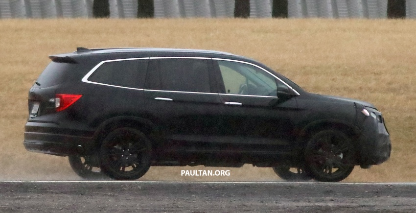 SPIED: 2019 Honda Pilot facelift spotted – eight-seat SUV to get new Insight's dual-motor hybrid system? Image #785951