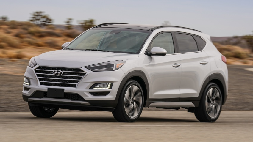 2019 Hyundai Tucson facelift drops turbo, DCT in US Image #799778