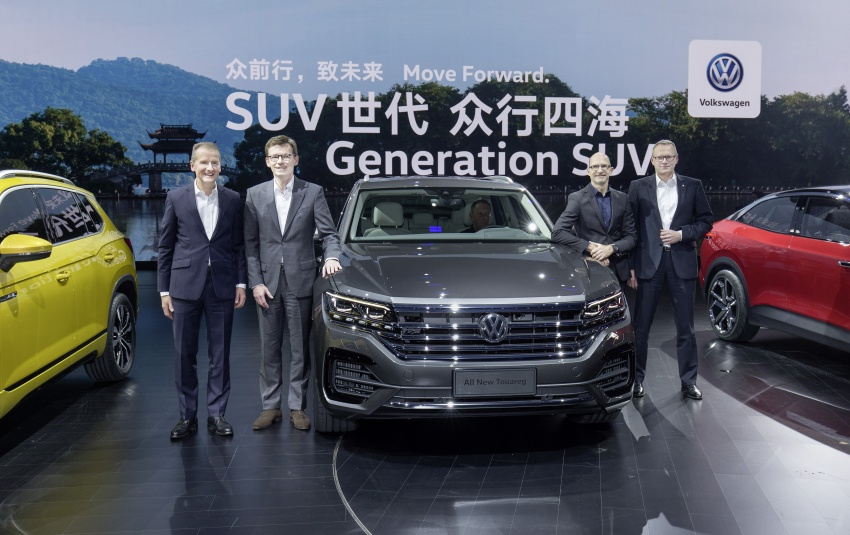 2019 Volkswagen Touareg debuts with 15-inch display Image #795547
