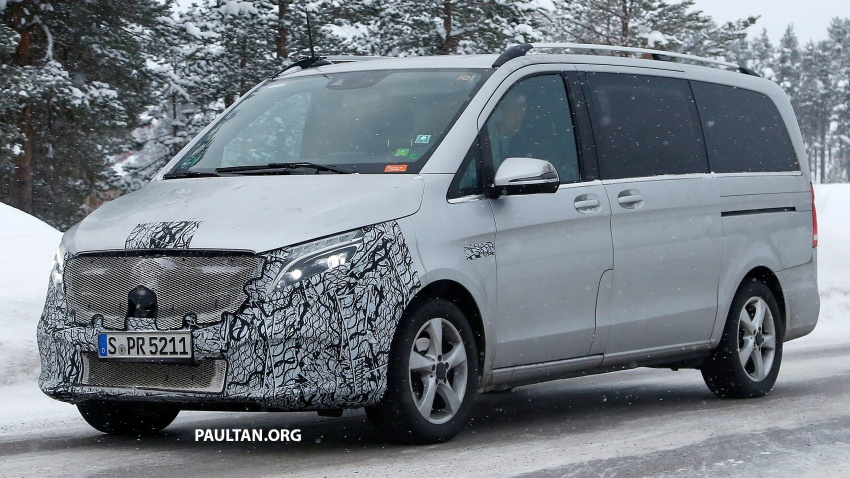 SPIED: Mercedes-Benz V-Class facelift winter testing