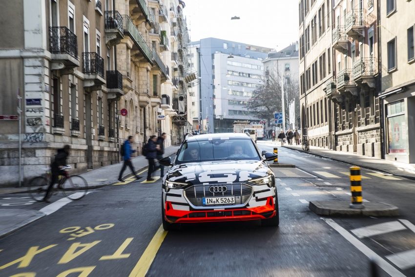 Audi e-tron prototypes revealed during Geneva Motor Show – upcoming all-electric SUV model previewed Image #788038