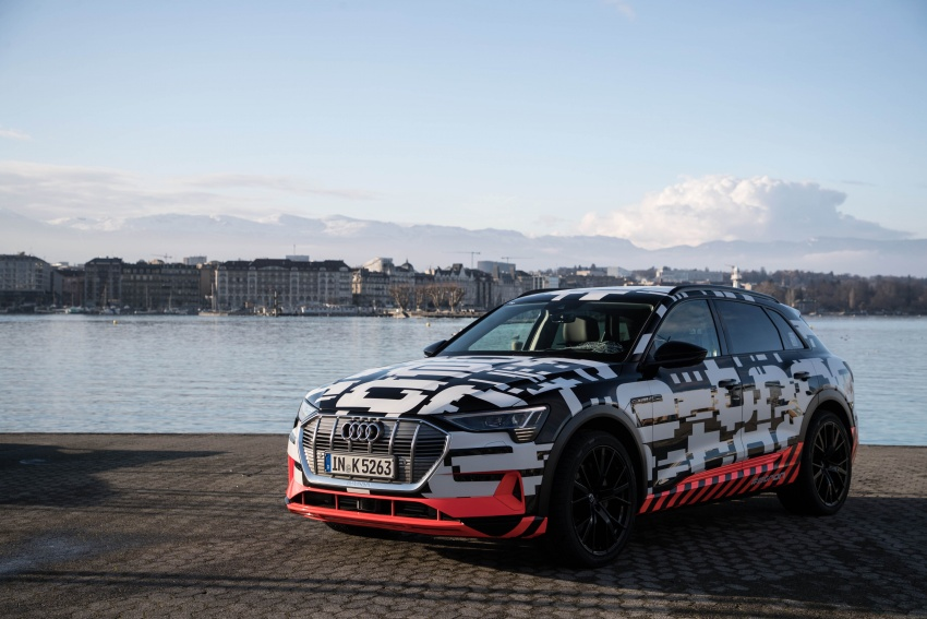 Audi e-tron prototypes revealed during Geneva Motor Show – upcoming all-electric SUV model previewed Image #788056