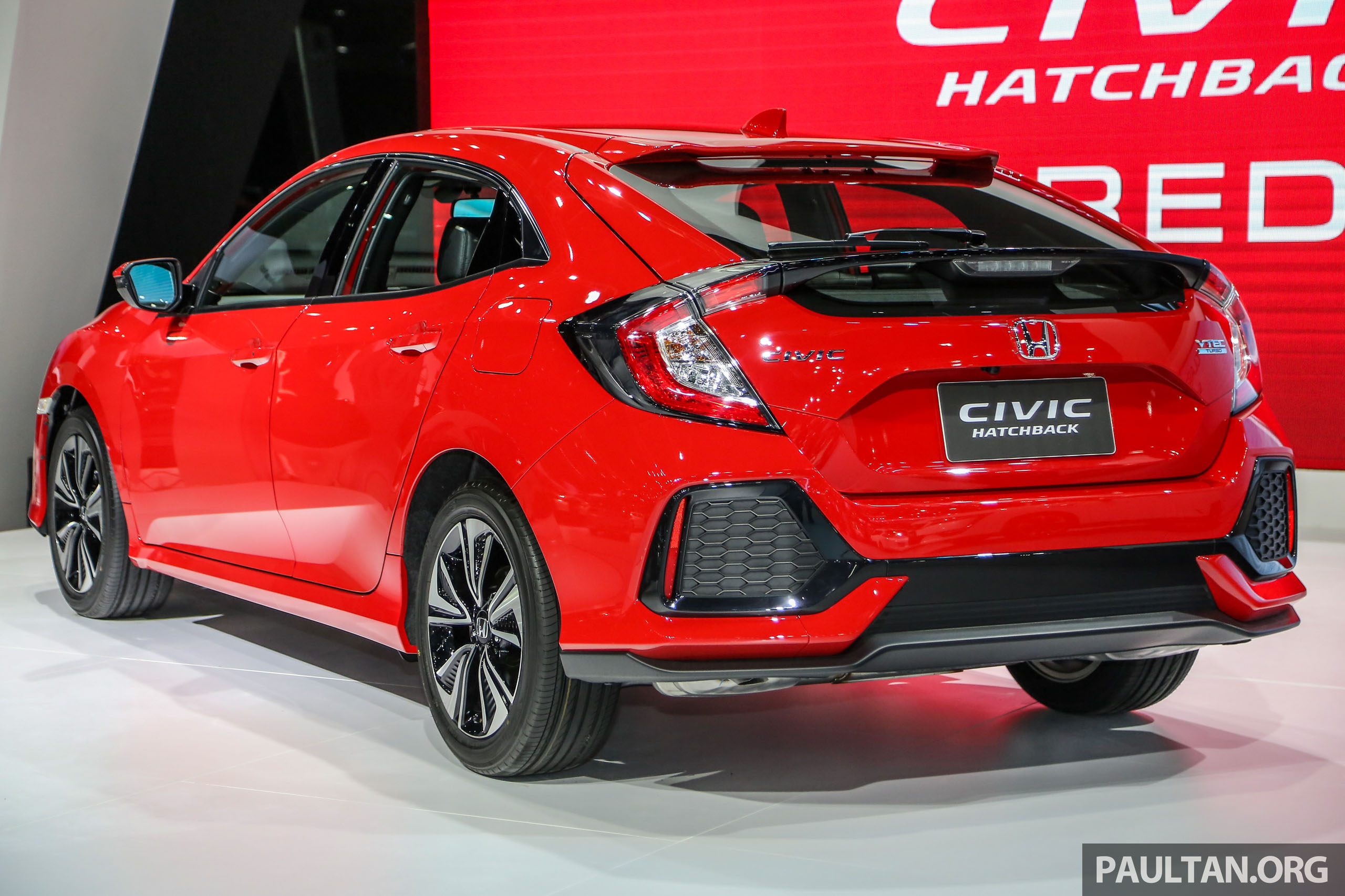 bangkok 2018 honda civic red hatchback dan sedan