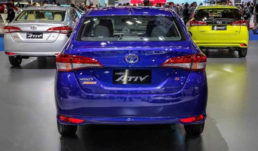 Bangkok 2018: Toyota Yaris Ativ – Vios generasi baharu dengan enjin 1.2L, hanya untuk pasaran Thai Image #796800