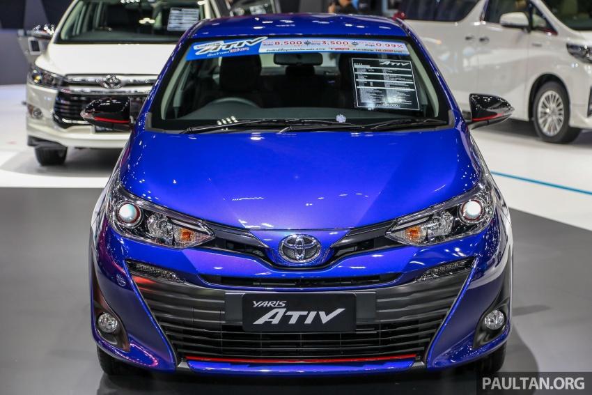 Bangkok 2018: Toyota Yaris Ativ – Vios generasi baharu dengan enjin 1.2L, hanya untuk pasaran Thai Image #796832